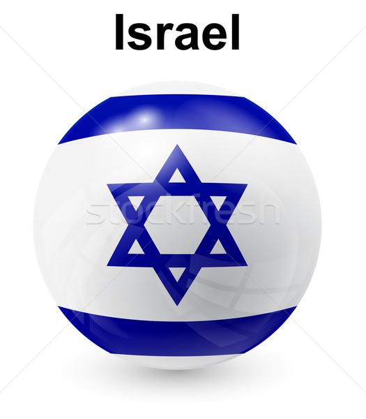 Israel offiziellen Flagge Design Welt Zeichen Stock foto © dip