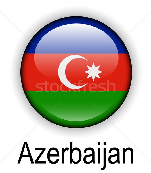 Azerbaijão oficial bandeira projeto mundo assinar Foto stock © dip