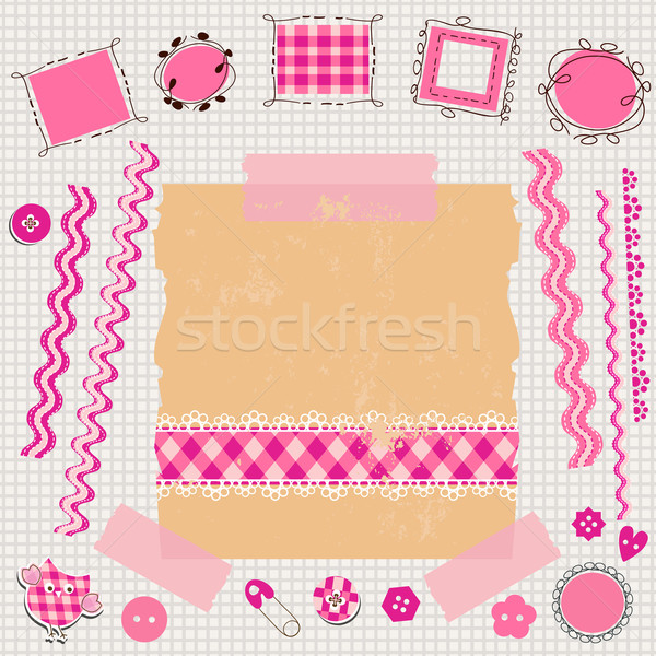 pink scrapbook kit Stock photo © dip