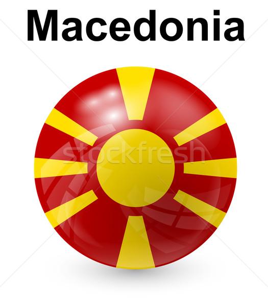 Mazedonien offiziellen Flagge Sonne Design Welt Stock foto © dip