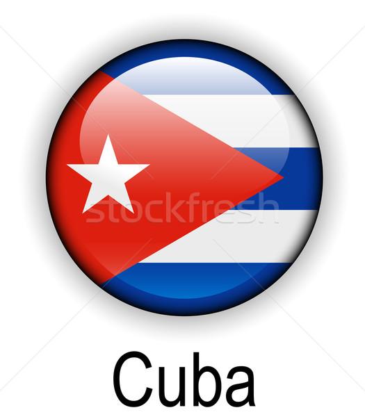 Cuba bandeira oficial botão bola projeto Foto stock © dip