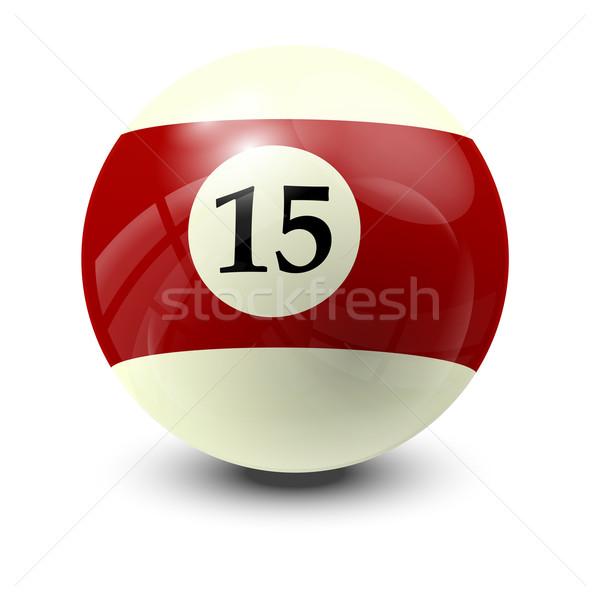 Biliárd labda 15 valósághű vektor terv Stock fotó © dip