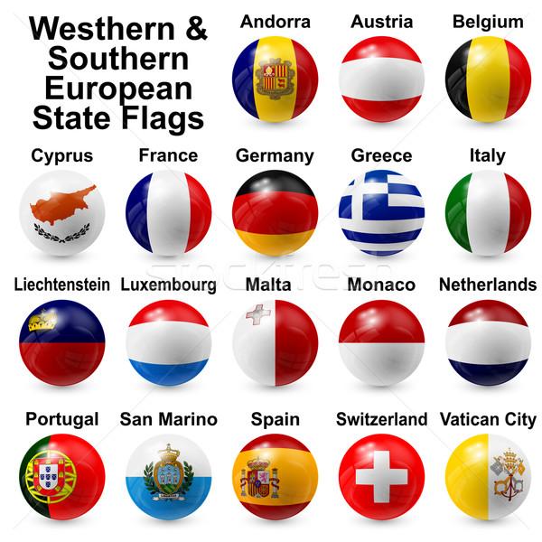 Bal vlaggen westerse zuidelijk europese licht Stockfoto © dip
