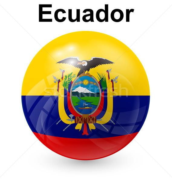 Ecuador labda zászló hivatalos gomb világ Stock fotó © dip