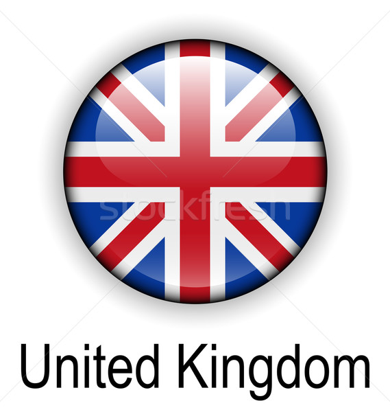 Reino Unido bandeira projeto assinar azul bola Foto stock © dip