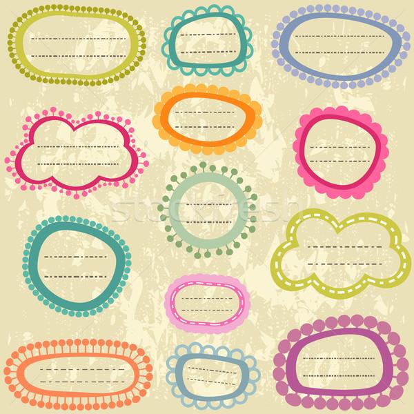 Stok fotoğraf: Renkli · etiketler · ayarlamak · kâğıt · ofis
