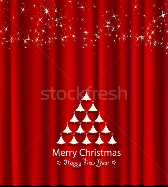 Stock photo: festive card for christmas and new year