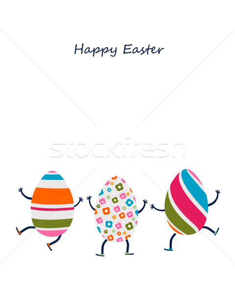 easter eggs characters Stock photo © dip