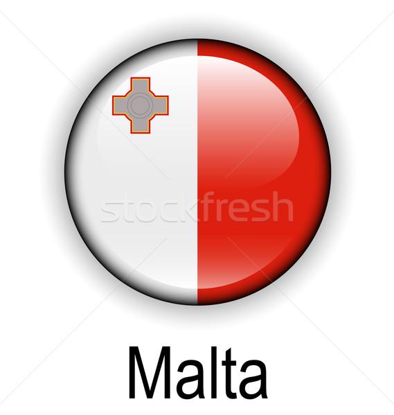 Malta vlag ontwerp teken bal Rood Stockfoto © dip