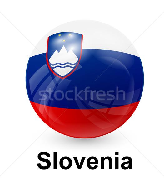 Slovenia bandiera luce mondo segno stelle Foto d'archivio © dip