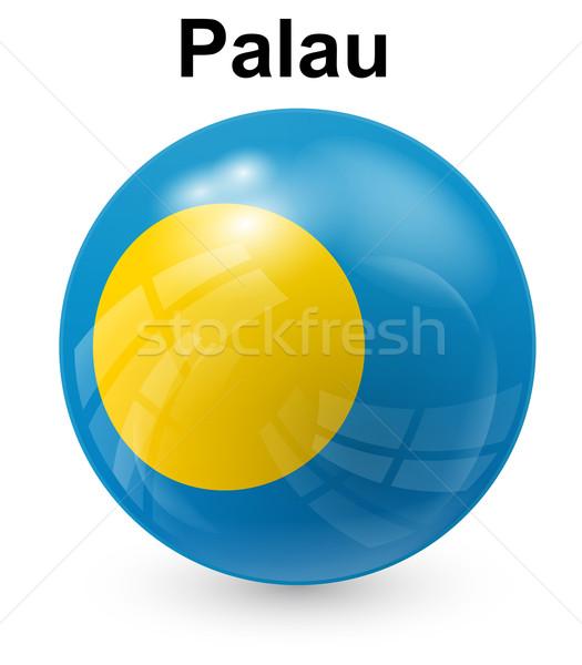 Palau offiziellen Flagge Design Welt Glas Stock foto © dip