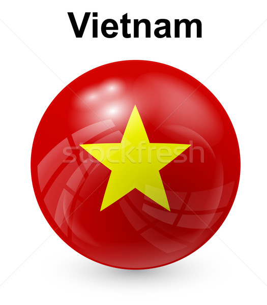 Vietnam offiziellen Flagge Design Welt Zeichen Stock foto © dip
