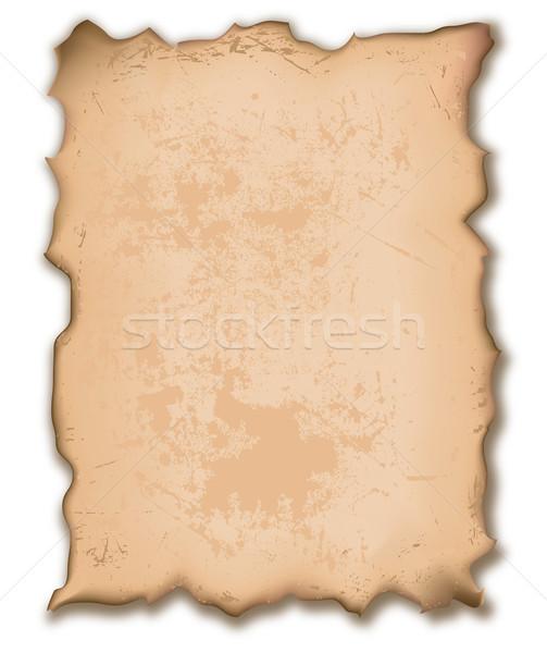 Szakadt papír illusztráció öreg szemcsés textúra papír Stock fotó © dip