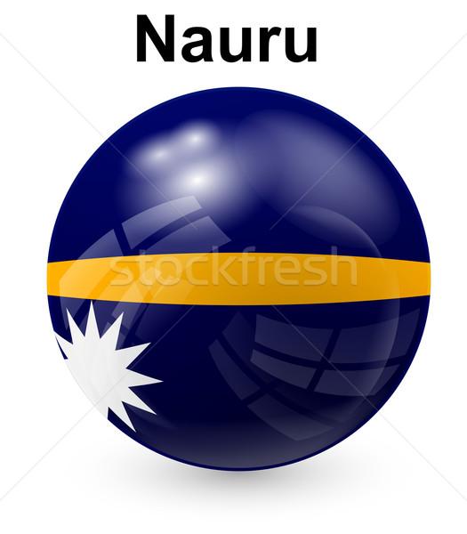 Nauru offiziellen Flagge Sonne Design Welt Stock foto © dip