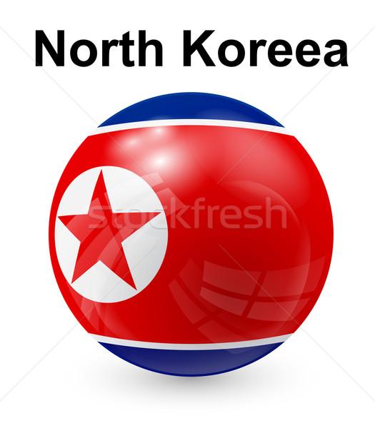 север официальный флаг свет дизайна Мир Сток-фото © dip