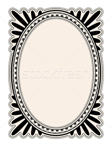 Oval frame Stock photo © dip