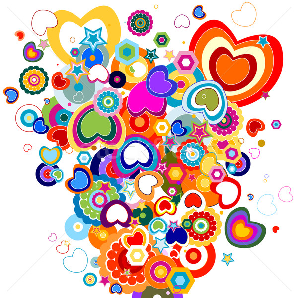 colorful hearts Stock photo © dip