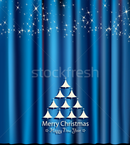 blue festive card for christmas and new year Stock photo © dip