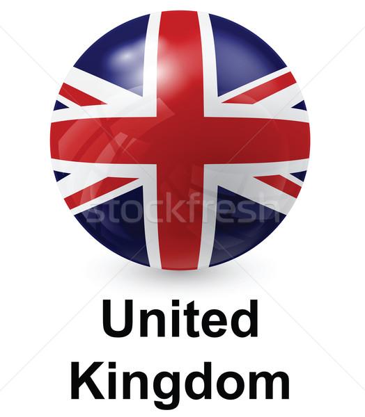 イギリス フラグ 光 世界 にログイン 青 ストックフォト © dip