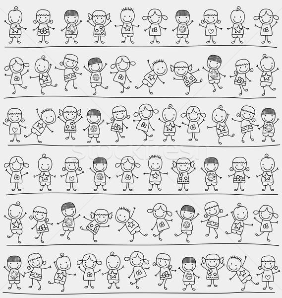 Stock photo: kids pattern