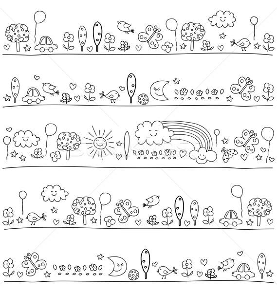 Foto stock: Padrão · crianças · bonitinho · natureza · elementos · criança