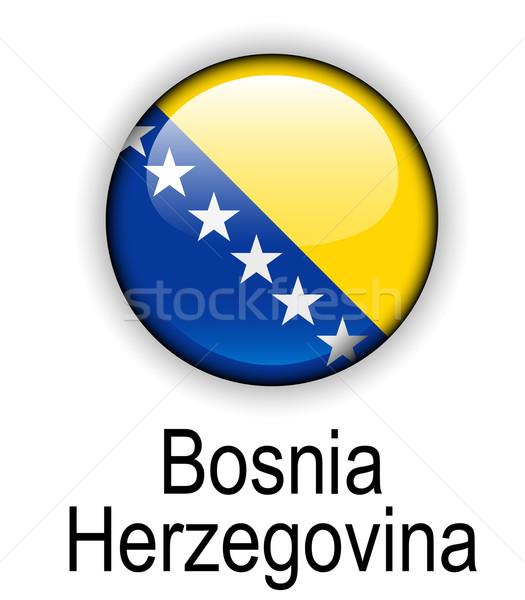 Bosnia Herzegovina oficial bandera diseno mundo vidrio Foto stock © dip