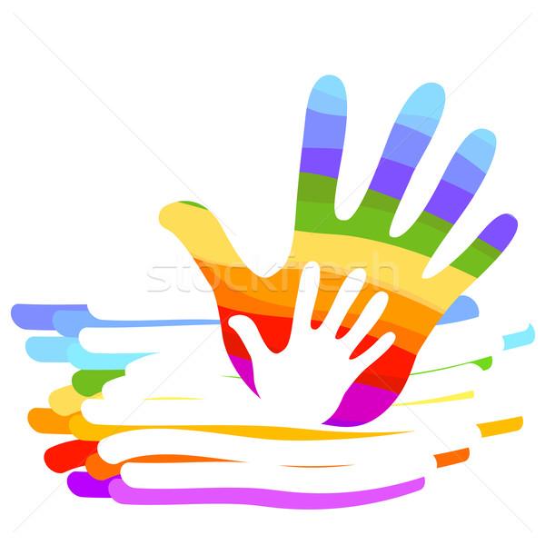 hand rainbow illustration Stock photo © dip