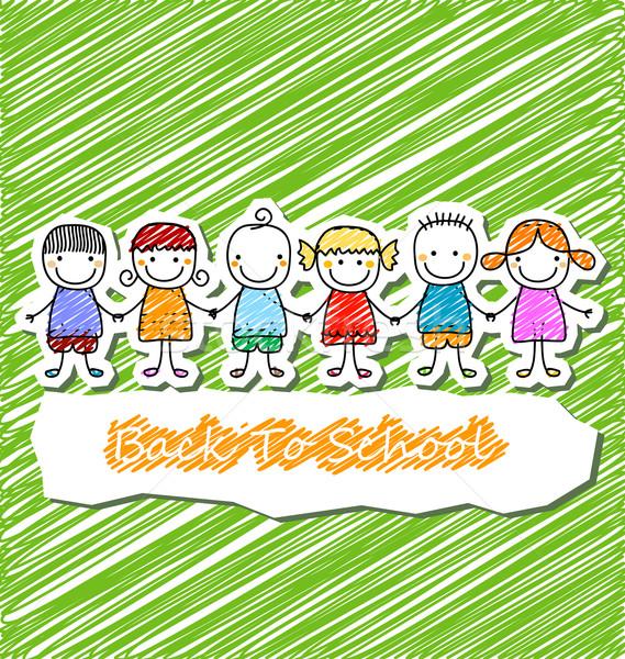 Groupe enfants mains sourire enfants Photo stock © dip