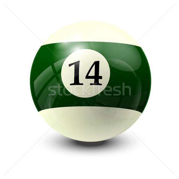 Biliárd labda 14 valósághű vektor terv Stock fotó © dip