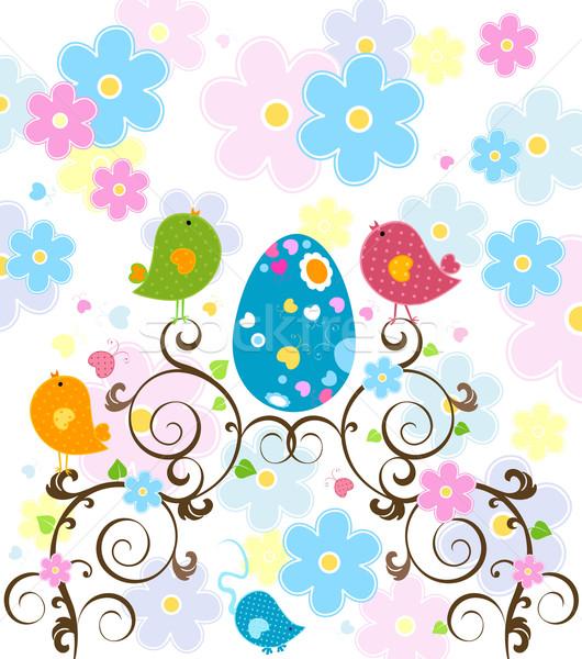 Пасху дерево цветок цветы счастливым природы Сток-фото © dip