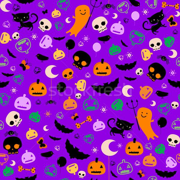 Halloween partij kinderen vlinder ogen Stockfoto © dip