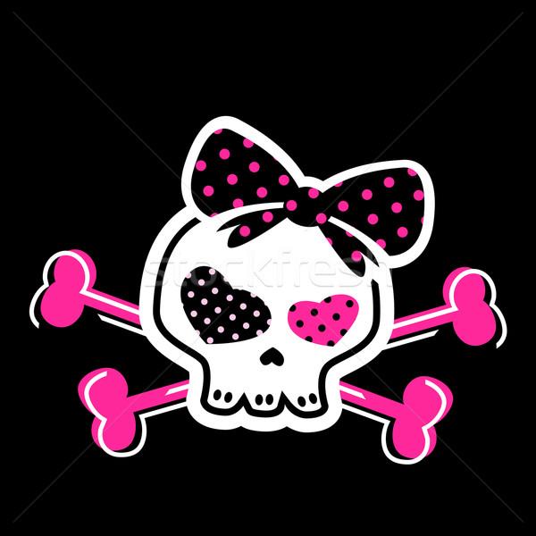 cute skull on crossbones Stock photo © dip