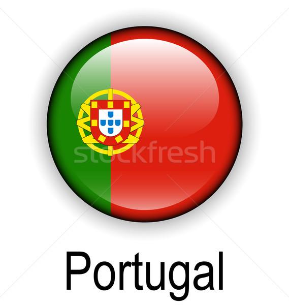 ストックフォト: ポルトガル · フラグ · デザイン · にログイン · 緑 · ボール