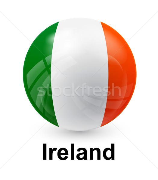 İrlanda bayrak ışık dünya imzalamak yeşil Stok fotoğraf © dip