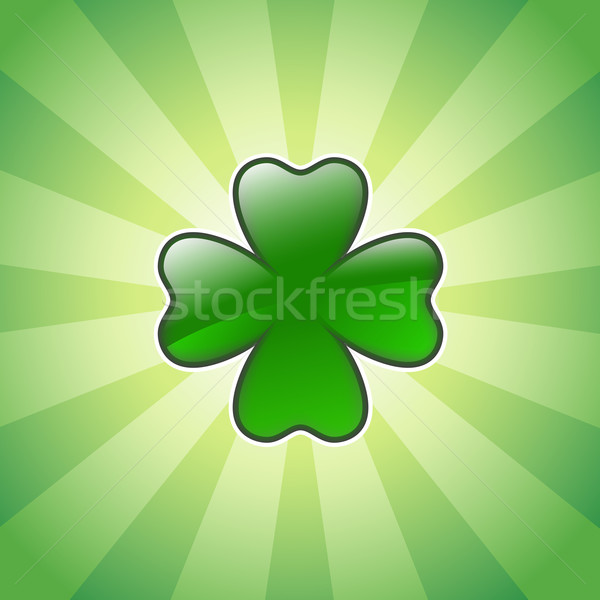 shiny four leaves clover Stock photo © dip