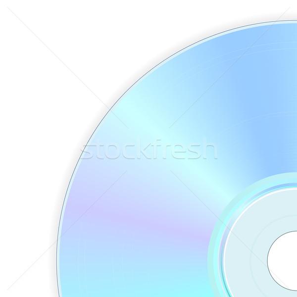 Kompakt lemez illusztráció hát oldal zene Stock fotó © dip