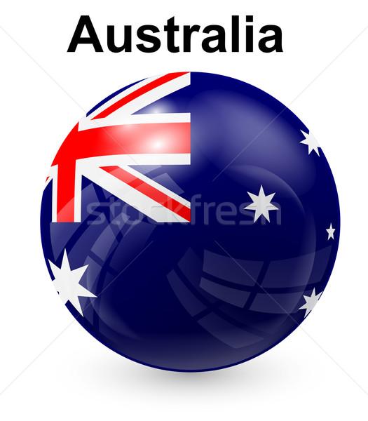 Australië officieel vlag ontwerp wereld kruis Stockfoto © dip