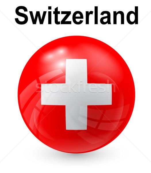 Schweiz offiziellen Flagge Design Welt Glas Stock foto © dip