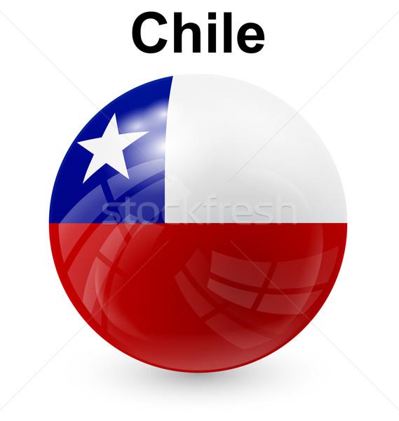 Chile labda zászló hivatalos gomb világ Stock fotó © dip