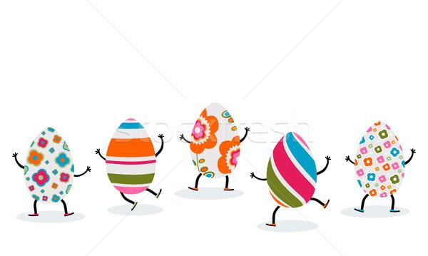 Сток-фото: пасхальных · яиц · весны · детей · счастливым · фон