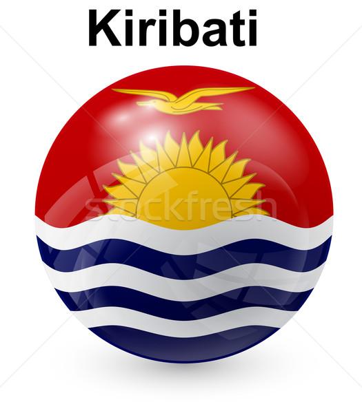 Kiribati officielle pavillon soleil design monde Photo stock © dip