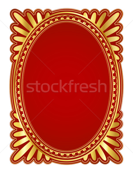 Oval frame Stock photo © dip