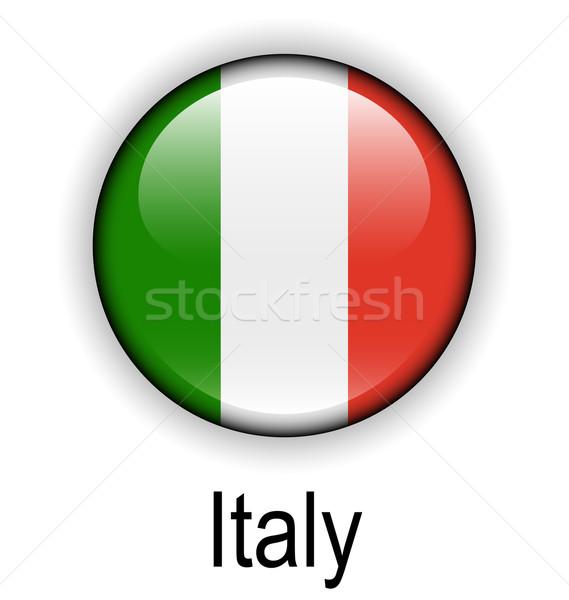 Italië vlag ontwerp teken bal Rood Stockfoto © dip