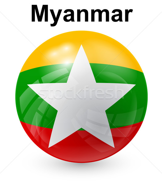 myanmar official state flag Stock photo © dip