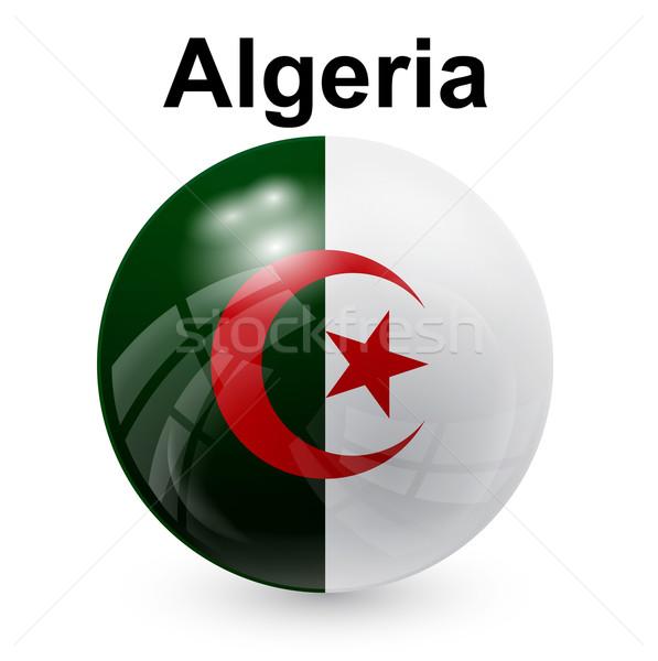 Algérie pavillon monde fenêtre signe vert Photo stock © dip