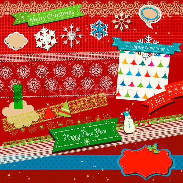 Inverno recados modelo bonitinho coruja papel Foto stock © dip