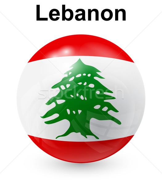 Libanon offiziellen Flagge Design Welt Zeichen Stock foto © dip