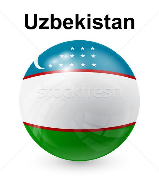 Oezbekistan officieel vlag ontwerp wereld maan Stockfoto © dip