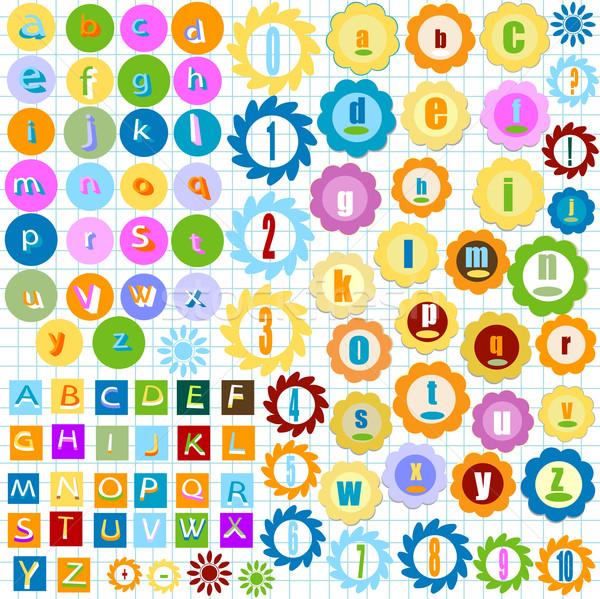 colorful alphabet Stock photo © dip