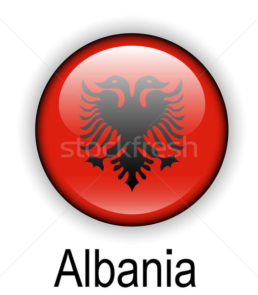 Albania ufficiale bandiera design mondo segno Foto d'archivio © dip